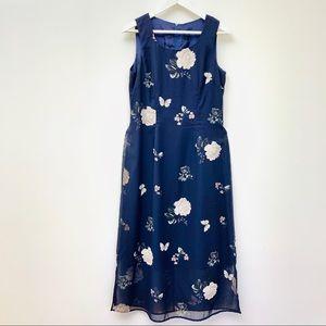 Rabbit Rabbit Rabbit Navy Floral Lined Dress